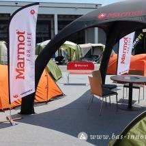Logobank-Beachflag-Eventzelt-Liegestuhl