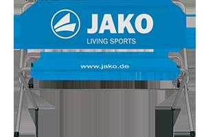 Sitzbank mit Jako Logo