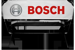 Werbebank mit Bosch Logo
