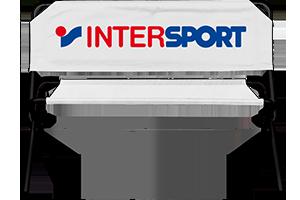 Sitzbank mit Intersport Logo