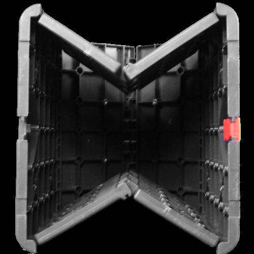 Bedruckbarer Sitzwürfel geklappt von unten