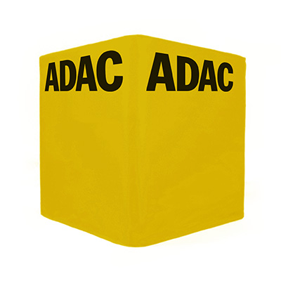 Faltbarer bedruckter Sitzwürfel ADAC