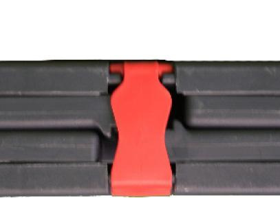 Faltbarer bedruckbarer Sitzwürfel verriegelt