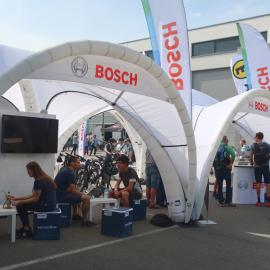 Bedruckter Faltbogen von Bosch