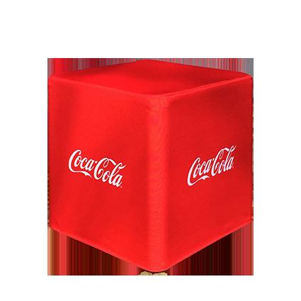 Sitzwürfel Coca Cola rot