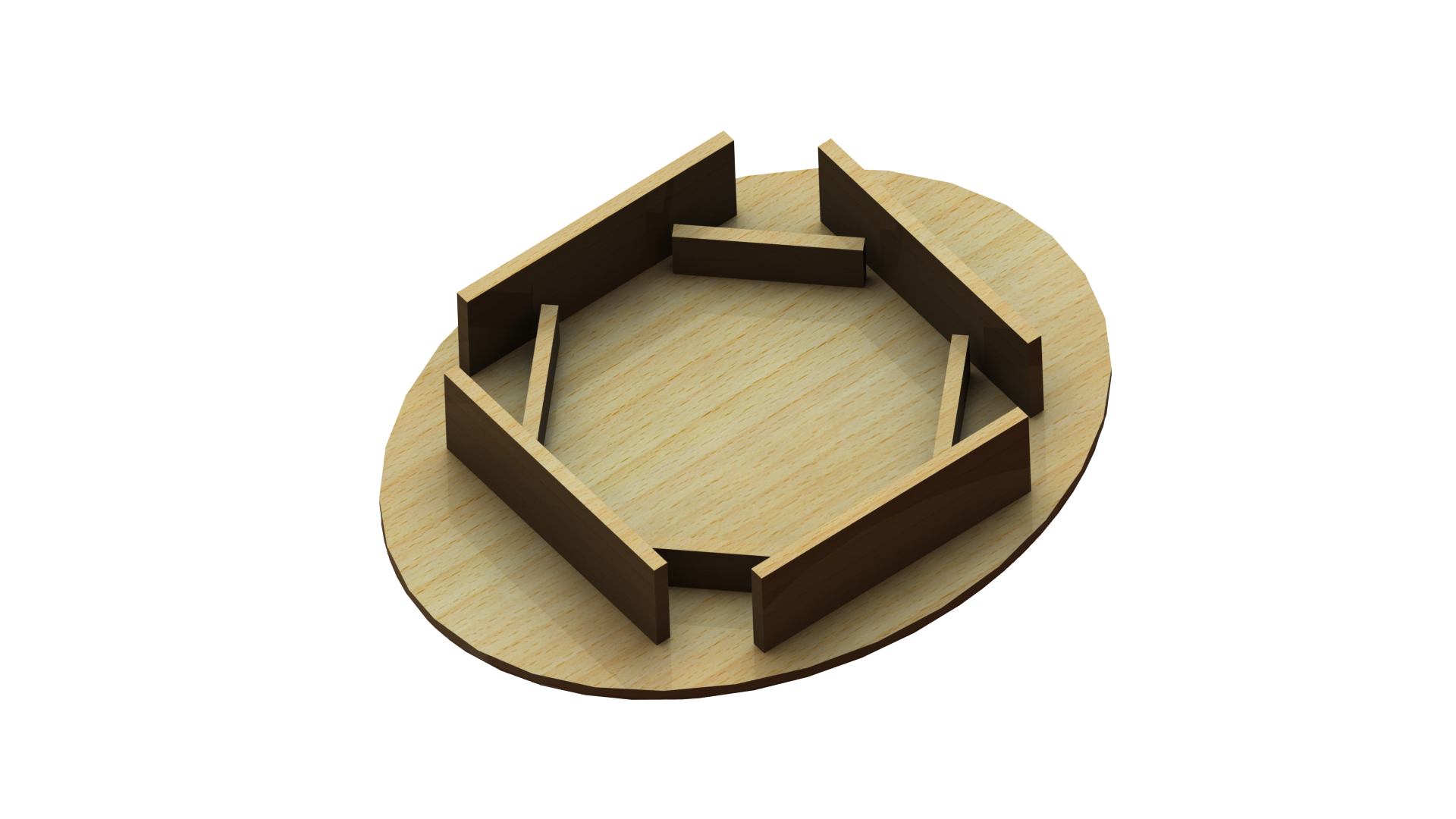Tischplatte für Sitzwürfel aus Holz