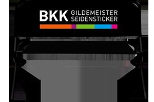 Sitzbank mit Seidensticker Logo