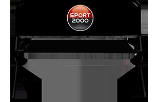 Sitzbank mit Sport2000 Logo