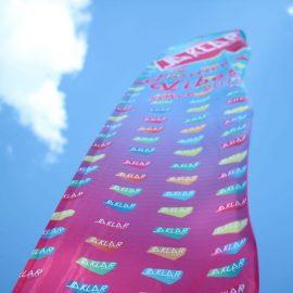 Beachflag bedruckt Sonne Himmel