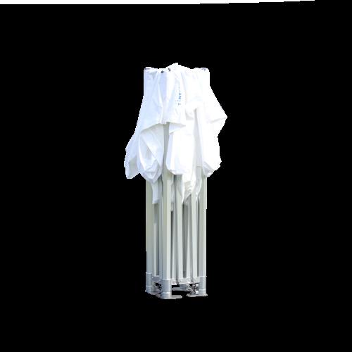 Weißes Faltzelt, geschlossen