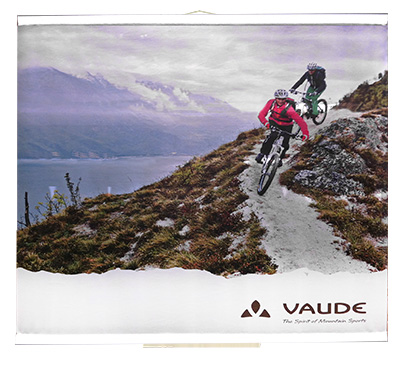 Banner mit Vaude Logo