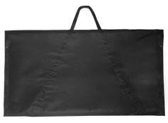 schwarze Transporttasche für eine Logobank