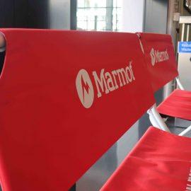 Logobank rot Marmot Logo
