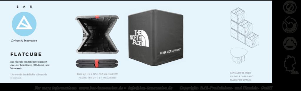faltbarer und bedruckbarer Sitzwürfel-Flatcube-foldable-cube-seat-recycled-bedruckbar-Events-POS-Outdoo