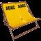 Doppelliegestuhl aus Holz in gelb ADAC-Logo