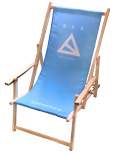 Bedruckter Liegestuhl