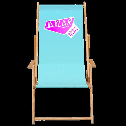 Bedruckter Liegestuhl in blau