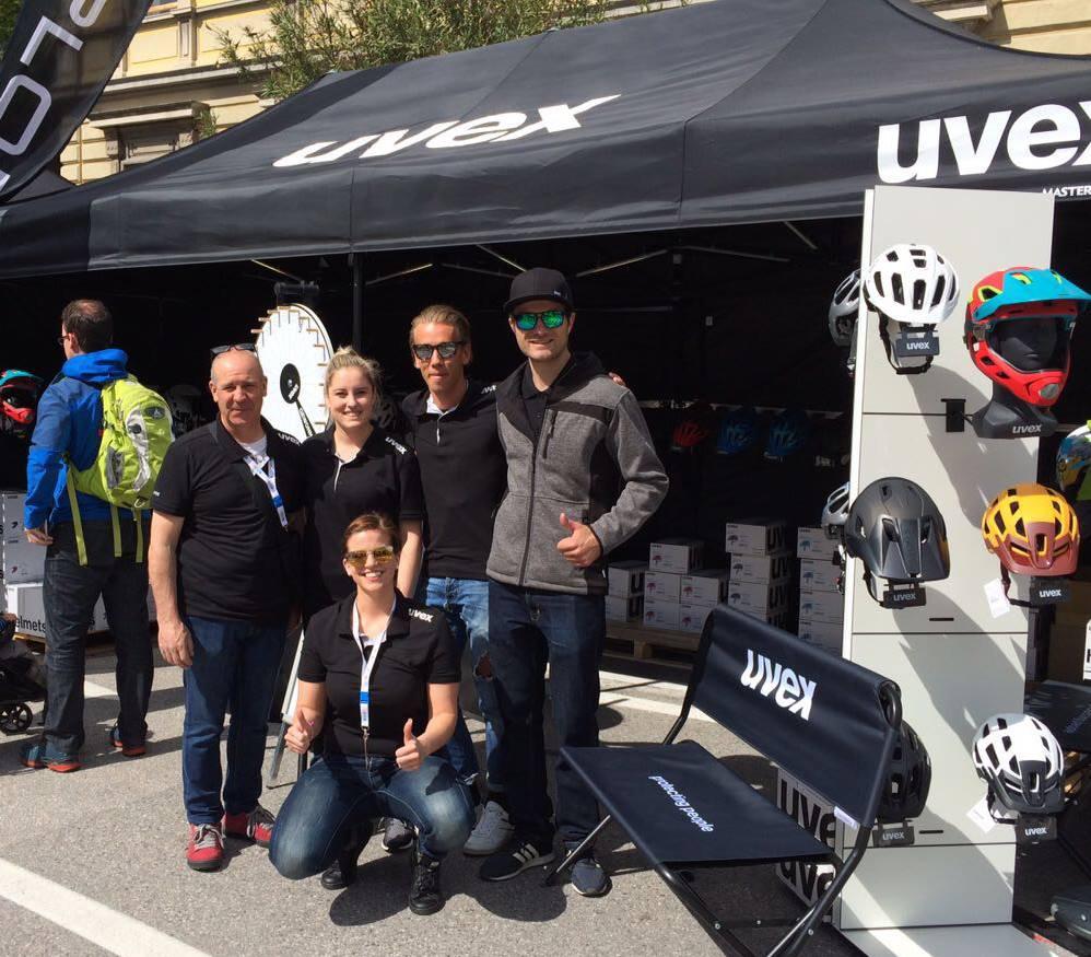 Logobank bedruckt UVEX Bike
