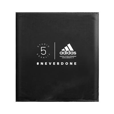 faltbarer und bedruckbarer Sitzwürfel Adidas
