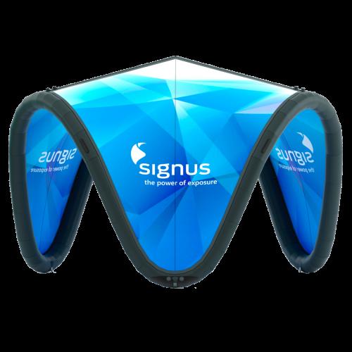 Aufblasbarer und bedruckbarer Eventpavillion – Signus One