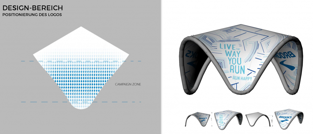 Design aufblasbarer Pavillon