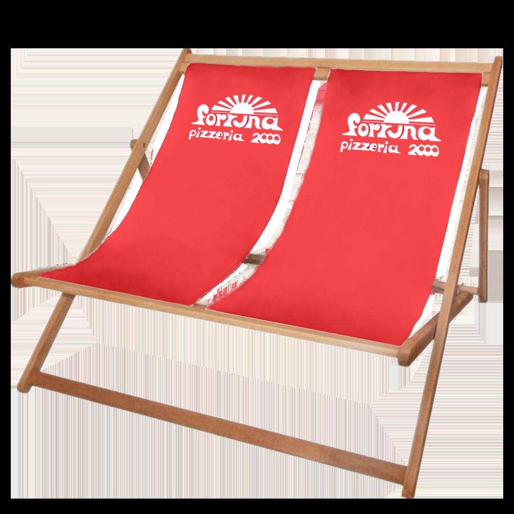 Doppelliegestuhl - Strandliege Holz