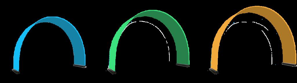 Skizzen von den verschiedenen Größen der Bannerbows