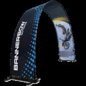Bannerbow - bedruckter Faltbogen für Events und POS