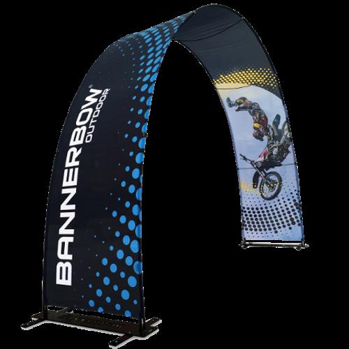 Bannerbow – bedruckter Faltbogen für Events und POS