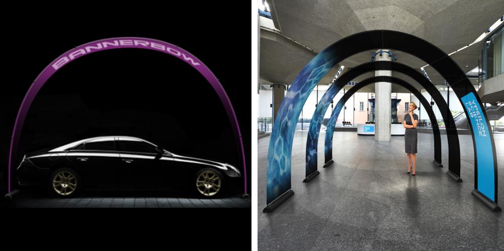 Bannerbow-BAS-Praesentation-Auto-Display-Bogen-Autohaus-Produktpraesentation-Rollup-Werbung-Events-bedruckt-Print-Drucken-Werbeflaeche