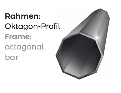 Rahmen für Logotent aus Rahmen mit Oktagon Profil