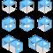 blaue Logotents in verschiedenen Ausführungen