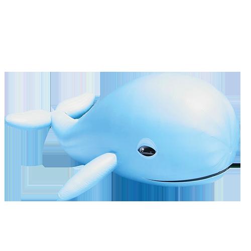 Aufblasbare Nachbildung von einem Wal
