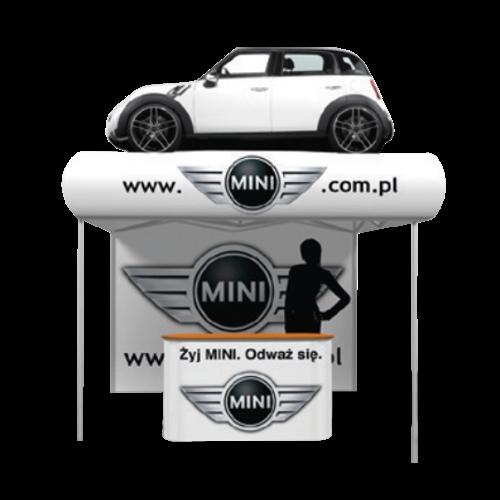Weißes Pop-Up-Zelt, mit einem Auto auf dem Dach