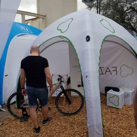 Bedruckte aufblasbare Zelte