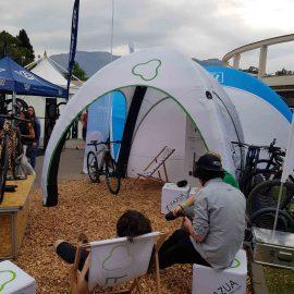 Aufblasbare bedruckte Zelte für Events