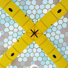 Gelb Schwarzes aufblasbares Eventzelt
