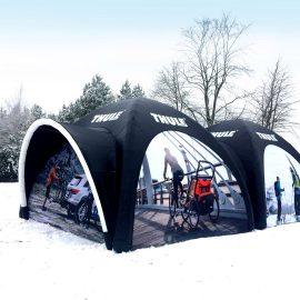 Bedruckte aufblasbare Zelte für Event