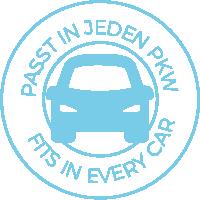 kann in jedenm Auto transportiert werden