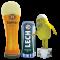 Aufblasbare Nachbildungen von Bierprodukten