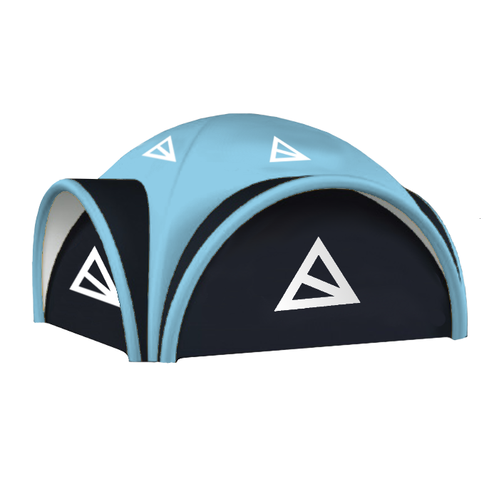 Aufblasbares Zelt geschlossen