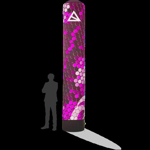 Werbesäule 4m mit Druck für Dein Event in verschiedenen Größen