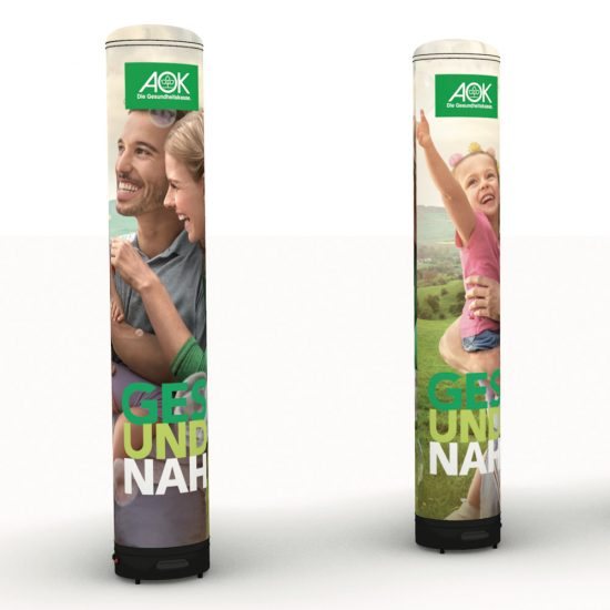 Produktbild Pneumatische Werbesäule 5m mit Druck