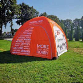 Bedrucktes aufblasbares Zelt