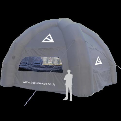 graues aufblasbares Zelt