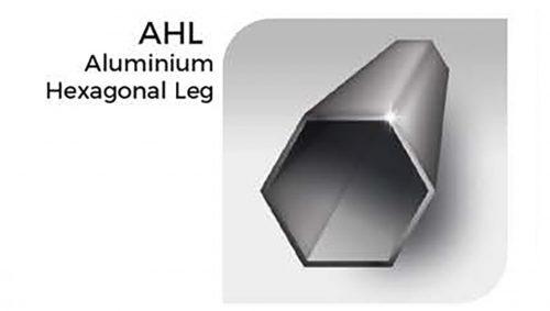 Sechseckiges Bein aus Aluminium