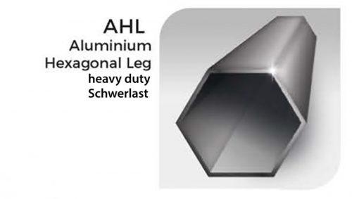 Sechseckiges Bein aus Aluminium für Schwerlast