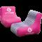 zwei pinke aufblasbare Sessel
