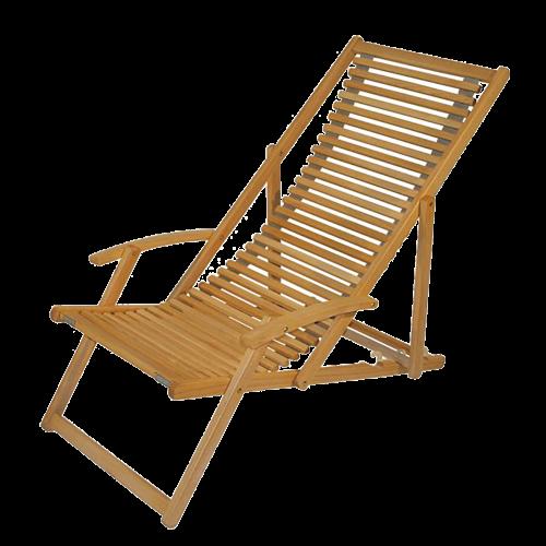 Produktvorschau für Seite Liegestuhl bedrucken. Holzliegestuhl mit Armlehne