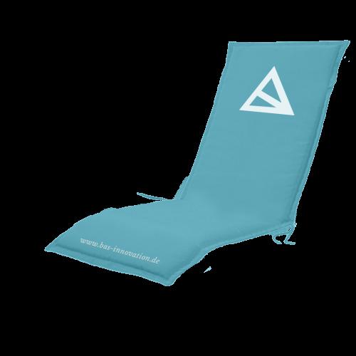 Liegestuhl Kissenauflage in blau mit Bas Logo
